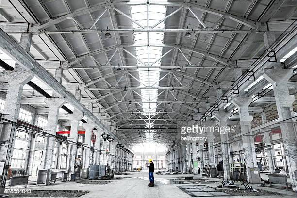 Innenraum eines Industriegebäude