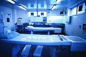 interior of an operating room in a hospital