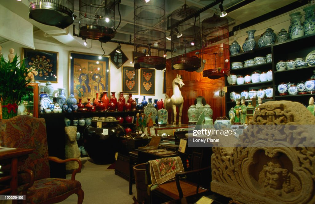 Interior of Arch Angel Antiques at Central 53-55 Hollywood Road, Hong Kong