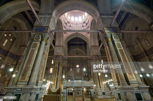 Interior of Ar-Rifai Mosque.