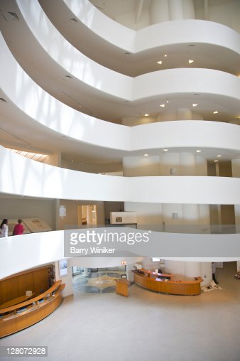Interior of atrium, Guggenheim Museum, Upper East Side, New York, NY, U.S.A.