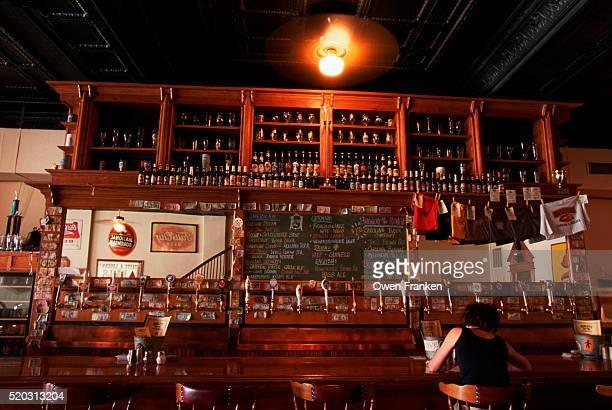 Interior of Barley's Bar
