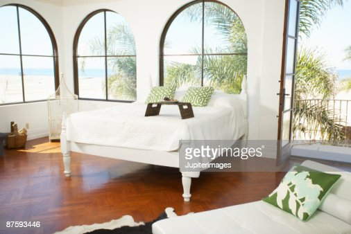 Interior of beachfront home : Stock Photo