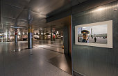 Interior of BonnGronau Heussallee/Museumsmeile subway station in Bonn Germany 09 September 2014 Bonn that offers many touristic attractions was...