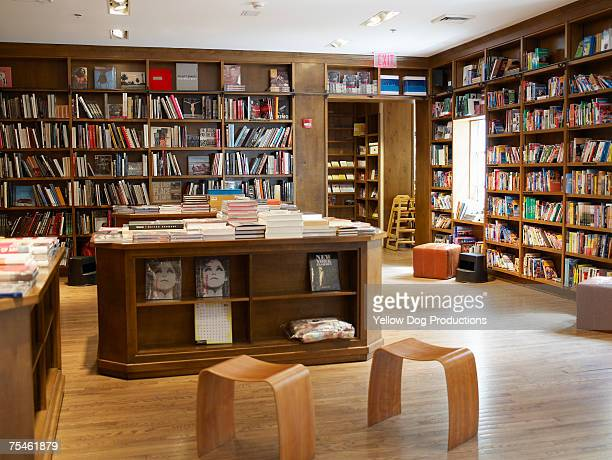 Interior of bookstore