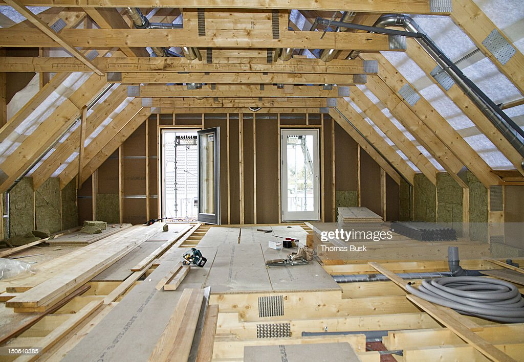 Interior Of Building Under Construction Stock Photo ...