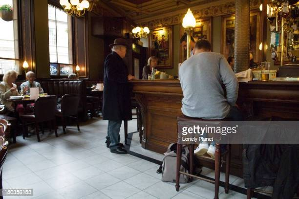 Interior of Cafe Royal Circle Bar.