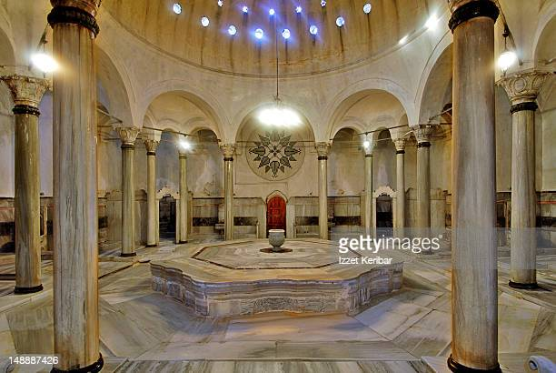 Interior of Cagaloglu Hamam bath house.
