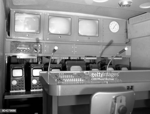 Interior of CBS television mobile unit at CBS Television City Hollywood CA Image dated June 20 1958