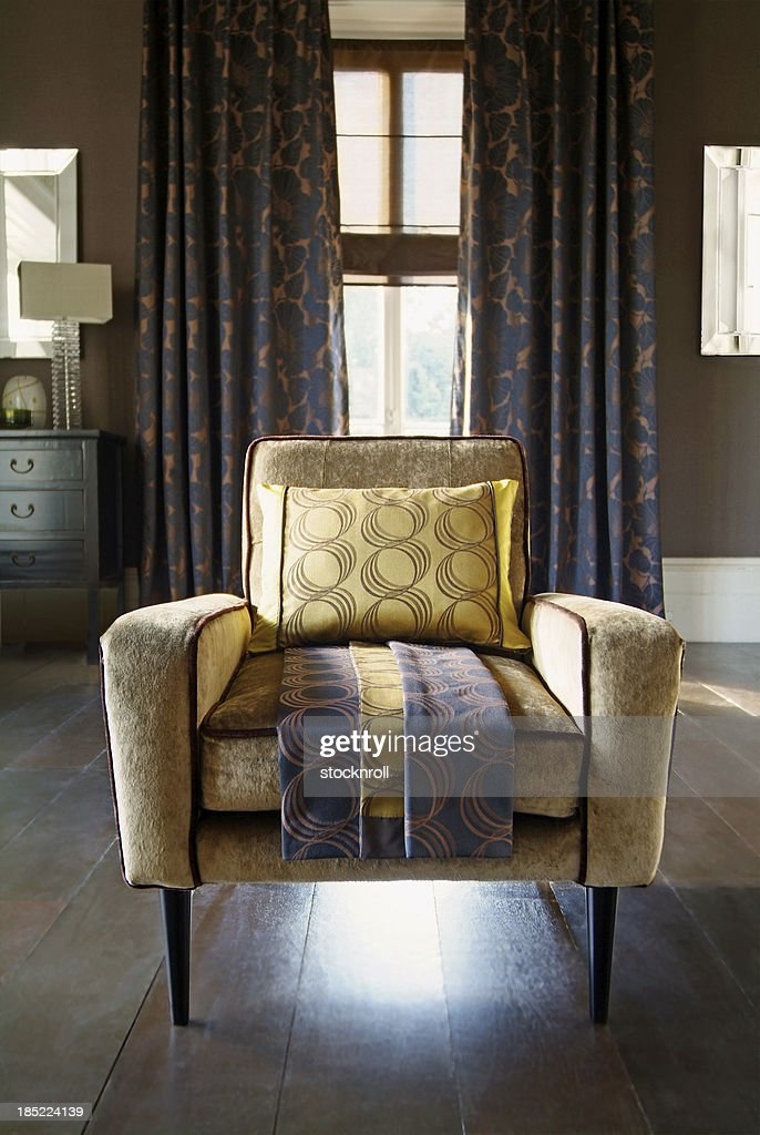 Interior of chair in living room : Stock Photo