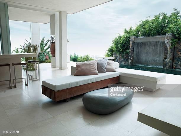 Interior of designer luxury home