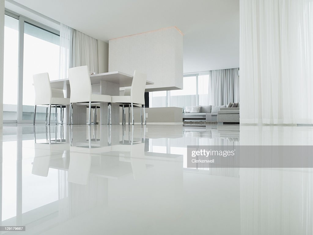 Interior of Dining Room of Luxury house : Stock Photo