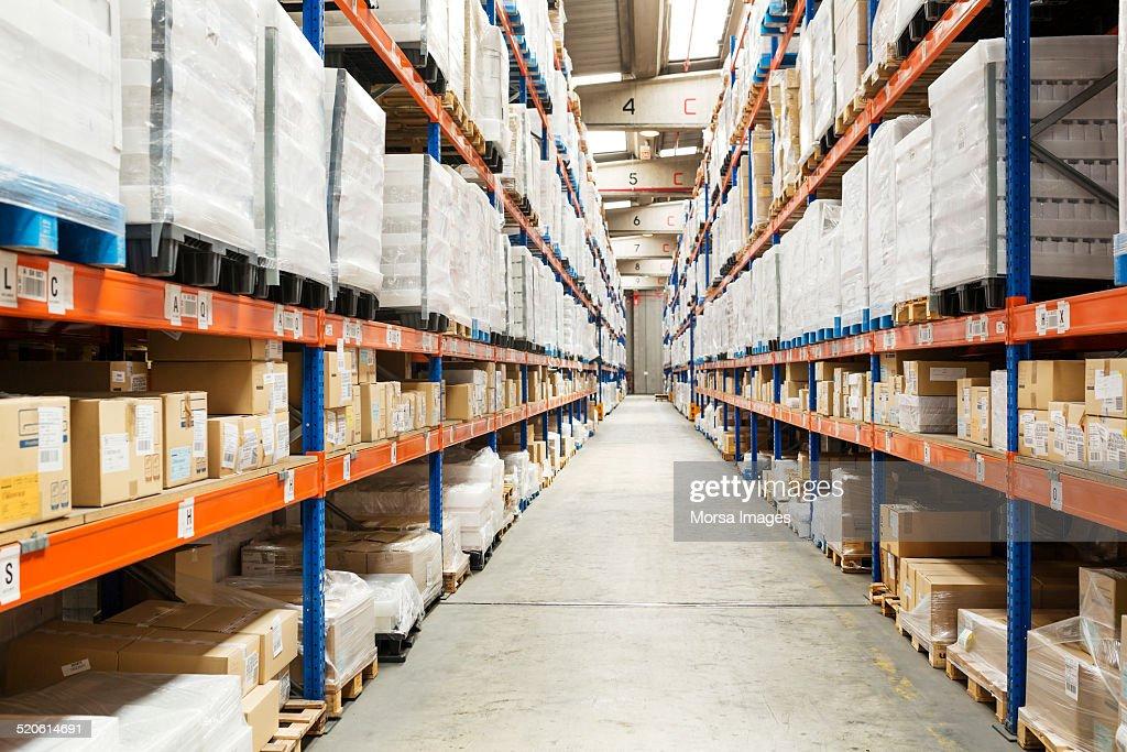 Interior of distribution warehouse