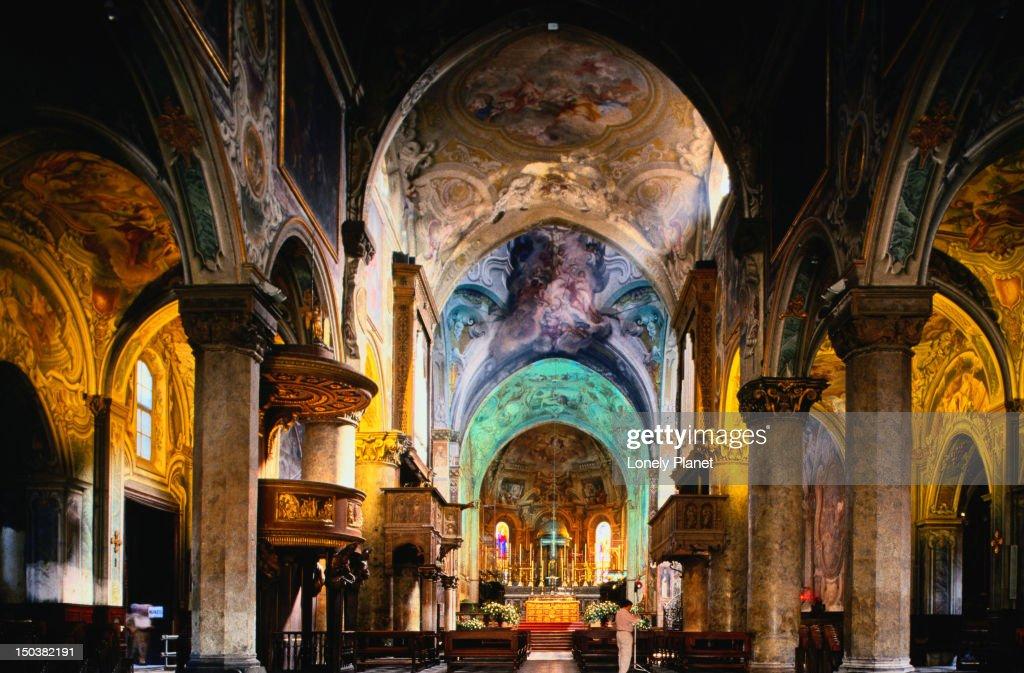 Interior of Duomo (Cathedral), Monza.
