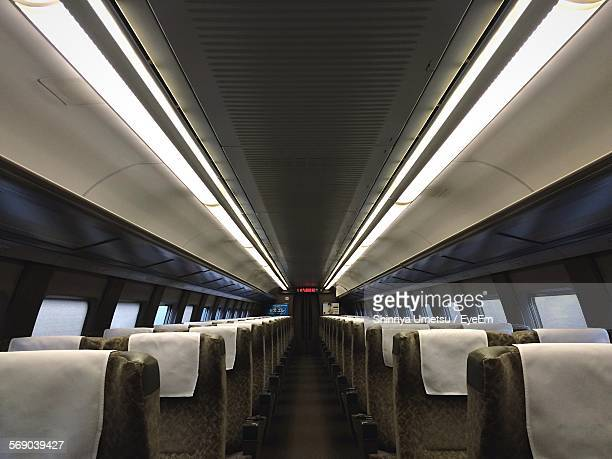 Interior Of Empty Airplane