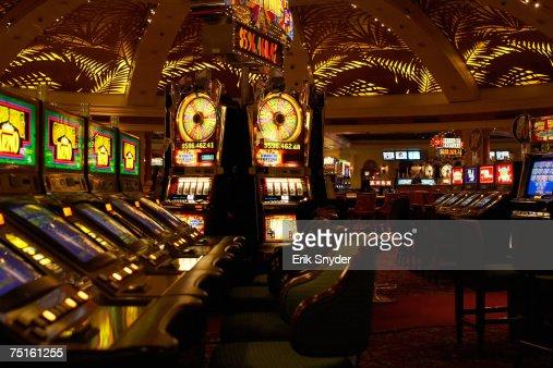 Interior of empty casino : Stock Photo