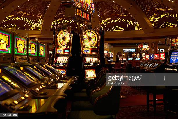Interior of empty casino