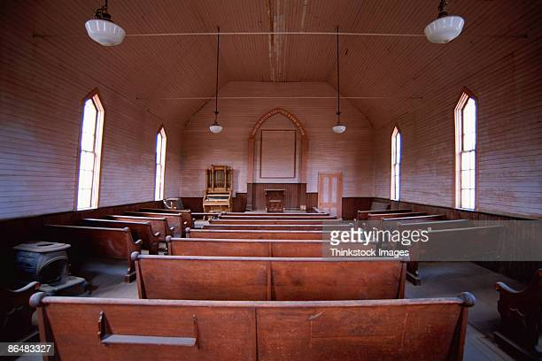 Interior of empty church
