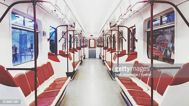 Interior Of Empty Subway Train