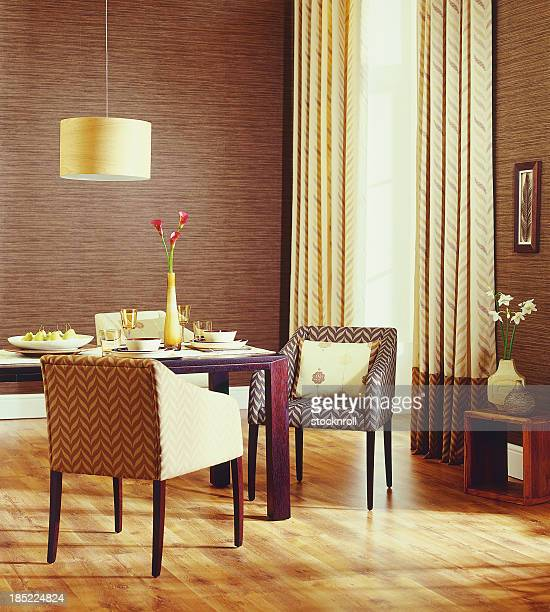 Interior of Family Traditional dining room.