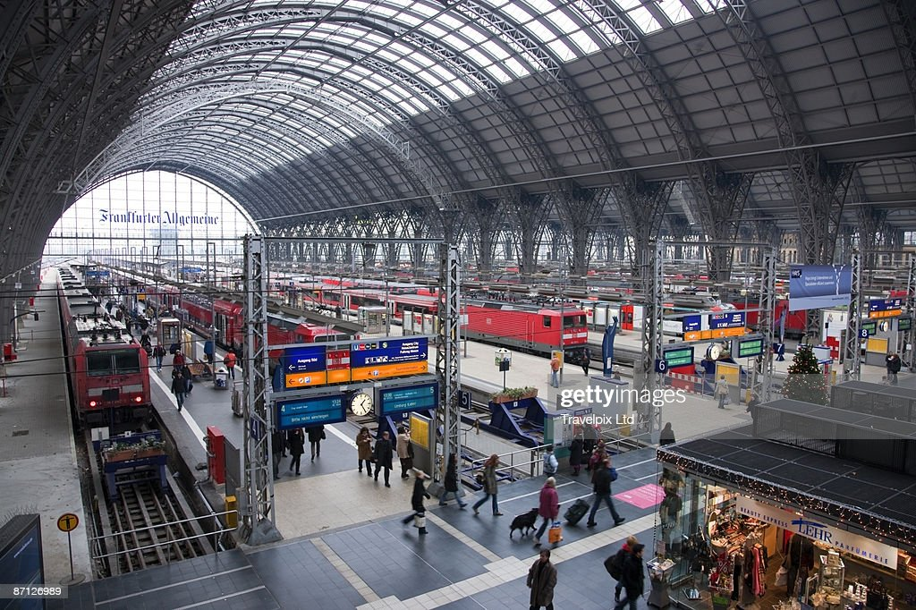 interior of frankfurt central train station stock photo. Black Bedroom Furniture Sets. Home Design Ideas