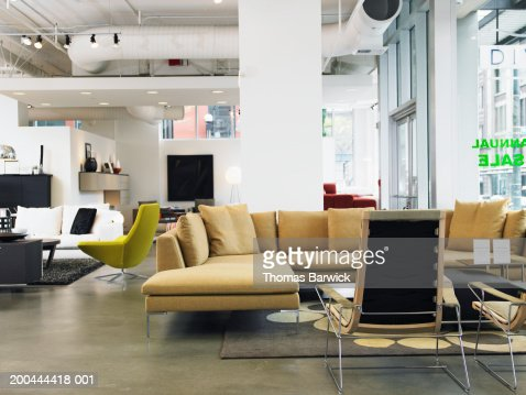 Interior of furniture store : Stock Photo