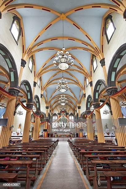 Interior of Fuzhou Fanchuanpu Catholic Church