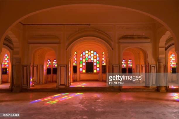 Interior of Hawa Mahal or Palace of Winds