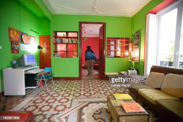 Interior of Home Deluxe Hostel, Barrio del Carmen.