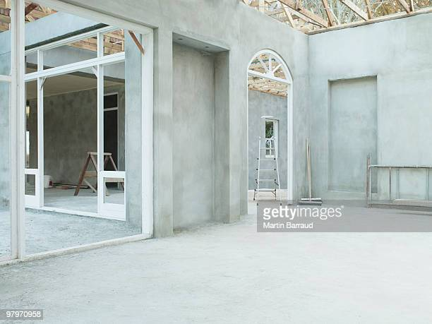 Interior of house under construction