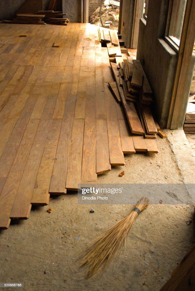 interior of house with wooden flooring at dehradun uttaranchal uttarakhand india