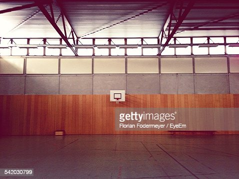 Interior Of Indoors Basketball Court
