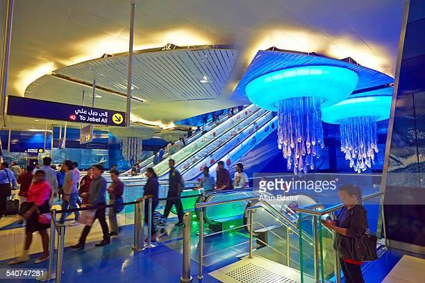 Interior of Khalid Bin Al Waleed metro station