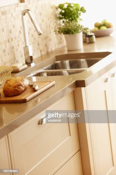 Innenansicht der Küche mit Nahaufnahme der Einheit