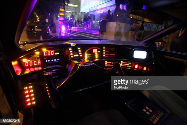 Interior of KITT car from the TV series Knight Rider during Science Fiction exhibition at the Onassis Cultural Centre in Athens Greece October 9 2017...
