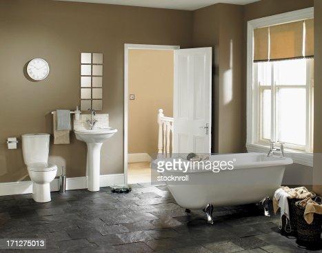 Interior of luxurious bathroom