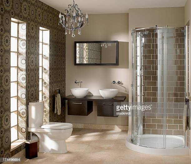 Interior of luxurious bathroom