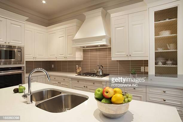 Interior of luxury kitchen in North America