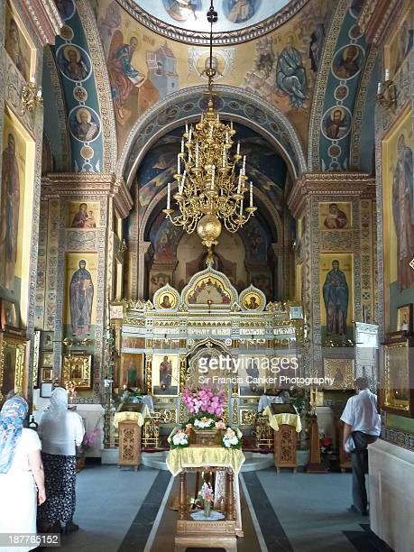 Interior of Mary Magdalene orthodox church, Minsk