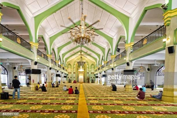 Interior of Masjid Sultan, Singapore - August 19, 2017