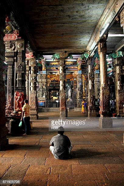 Interior of Meenakshi Temple Madurai