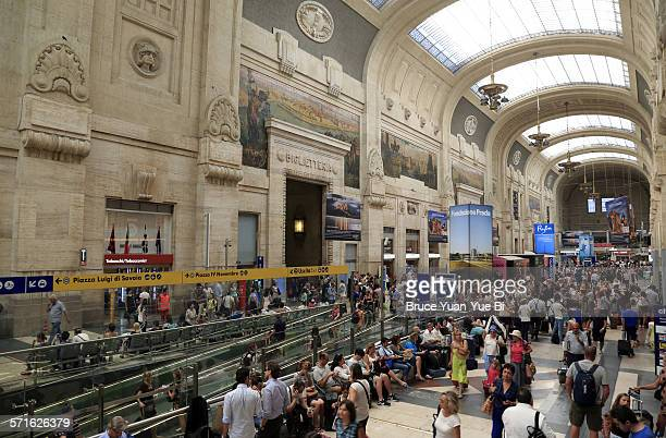 Interior of Milano Centrale Railway Station