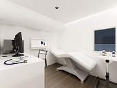 White operating room design in Mobile Clinic car