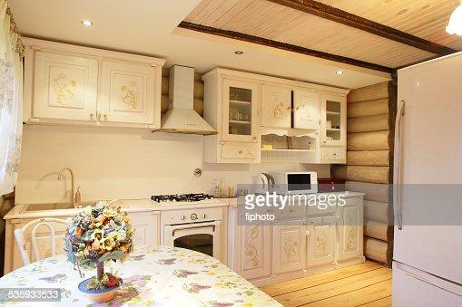interior of modern european kitchen : Stock Photo