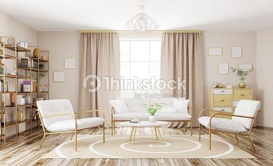 Interieur Des Modernen Wohnzimmer 3dabbildung Stock-Foto | Thinkstock