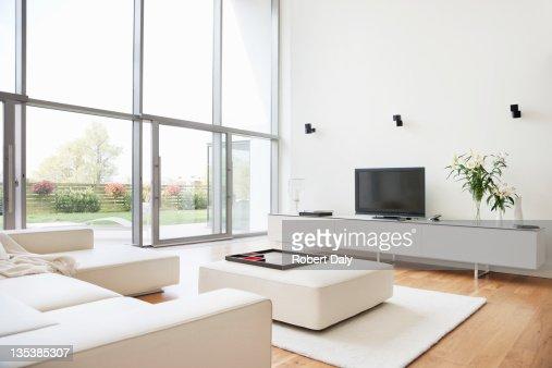 Interior of modern living room : Bildbanksbilder