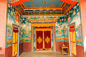 Interior of monastery, Muktinath, Nepal