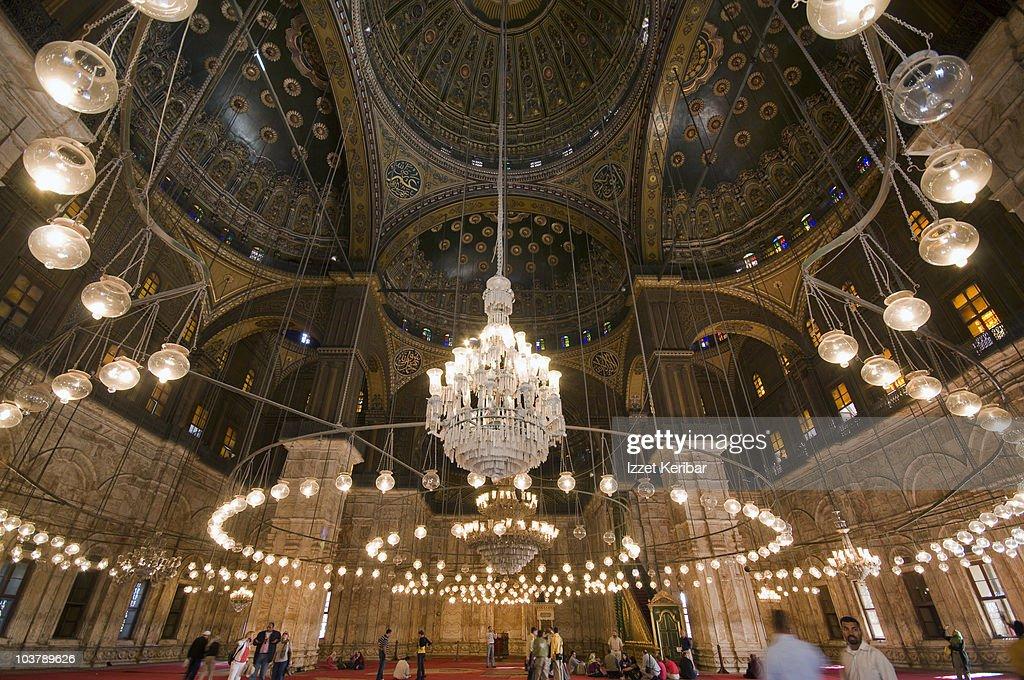 Interior Of Mosque Of Muhammad Ali Pasha Or Alabaster