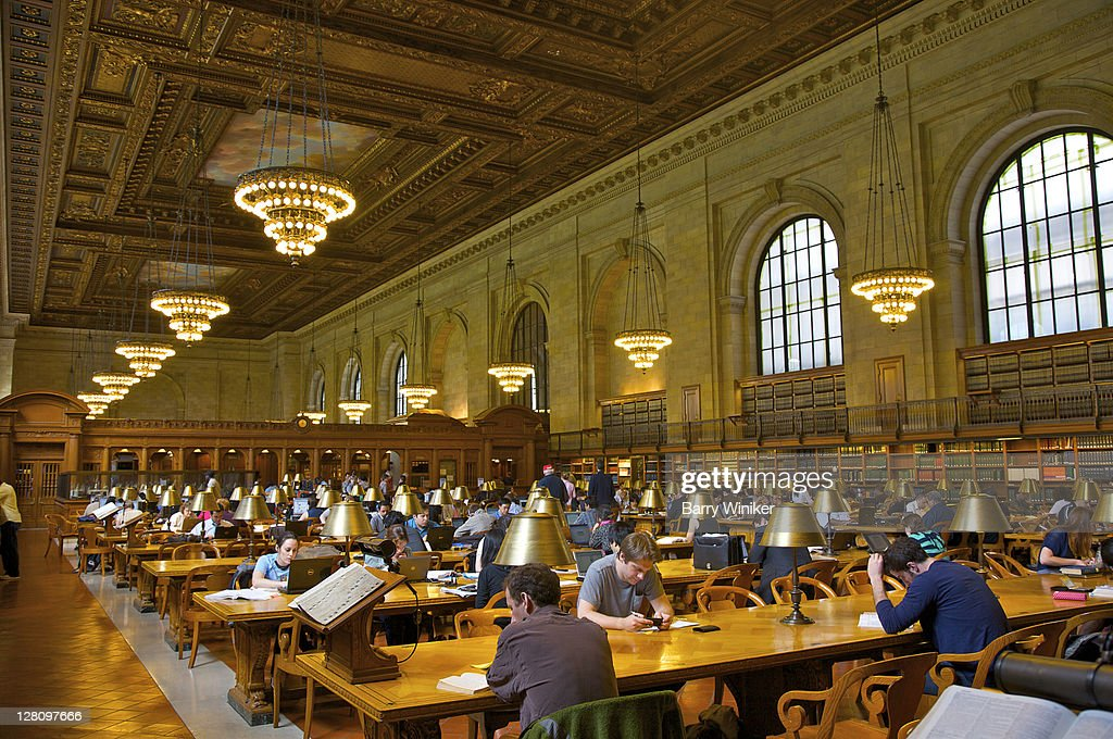 Interior of New York Public Library, South Hall, New York