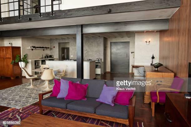 Interior of New York style loft, holiday rental apartment